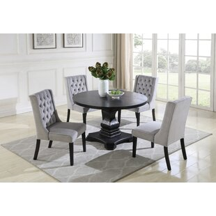 Motta 5 Piece Solid Wood Dining Set by House of Hampton Cheapt