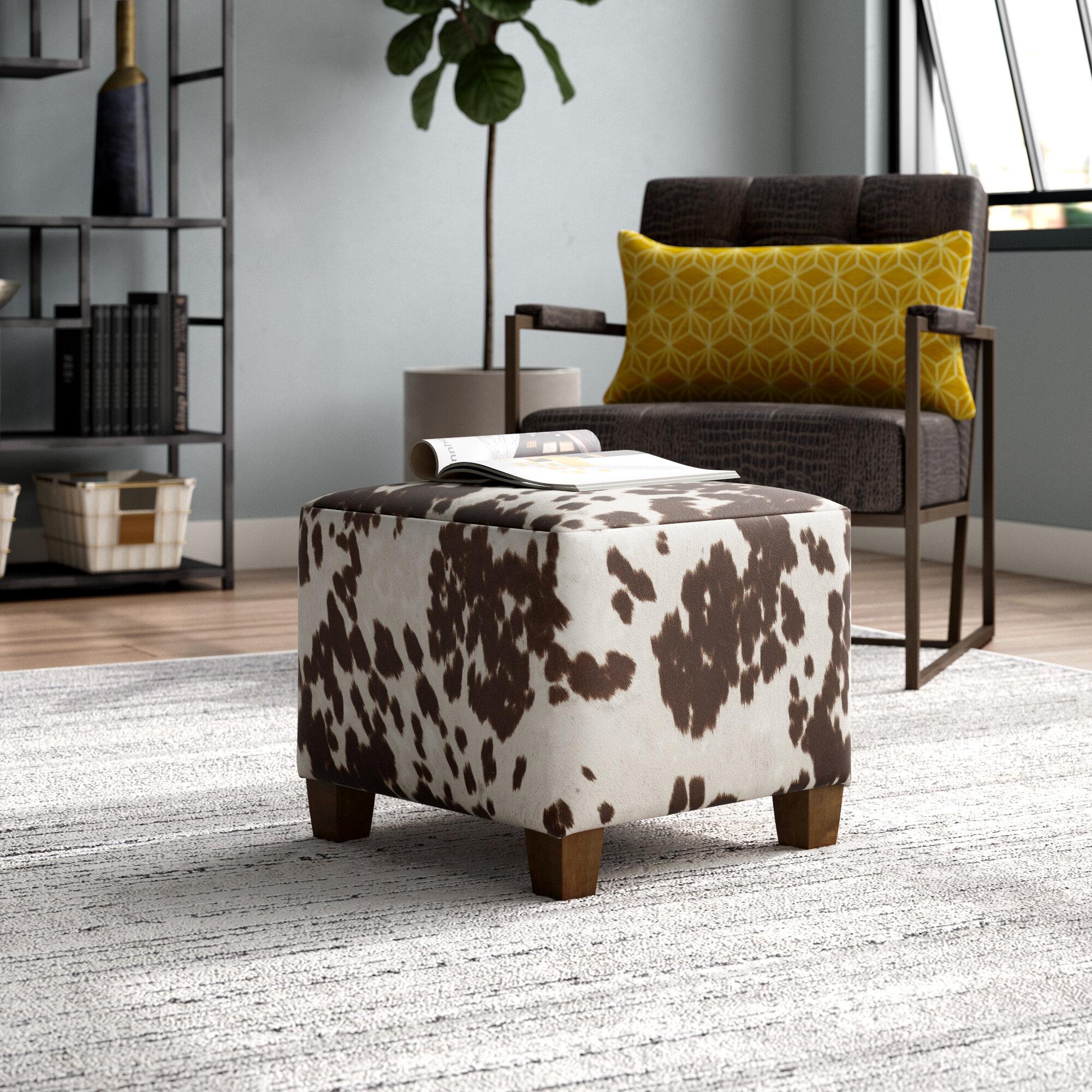 Peachy Laurel Foundry Modern Farmhouse Connie Cube Ottoman Creativecarmelina Interior Chair Design Creativecarmelinacom