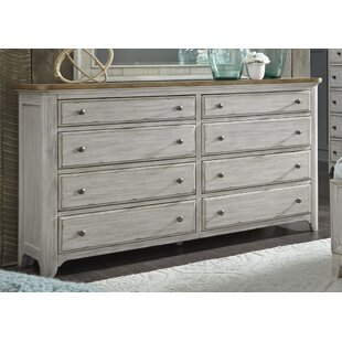 Highland Dunes Clairmont 8 Drawer Double Dre..