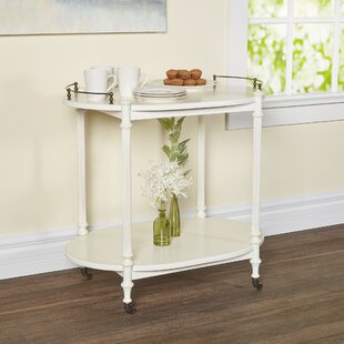 Heisler Kitchen Cart with Wood Top by Darby Home Co