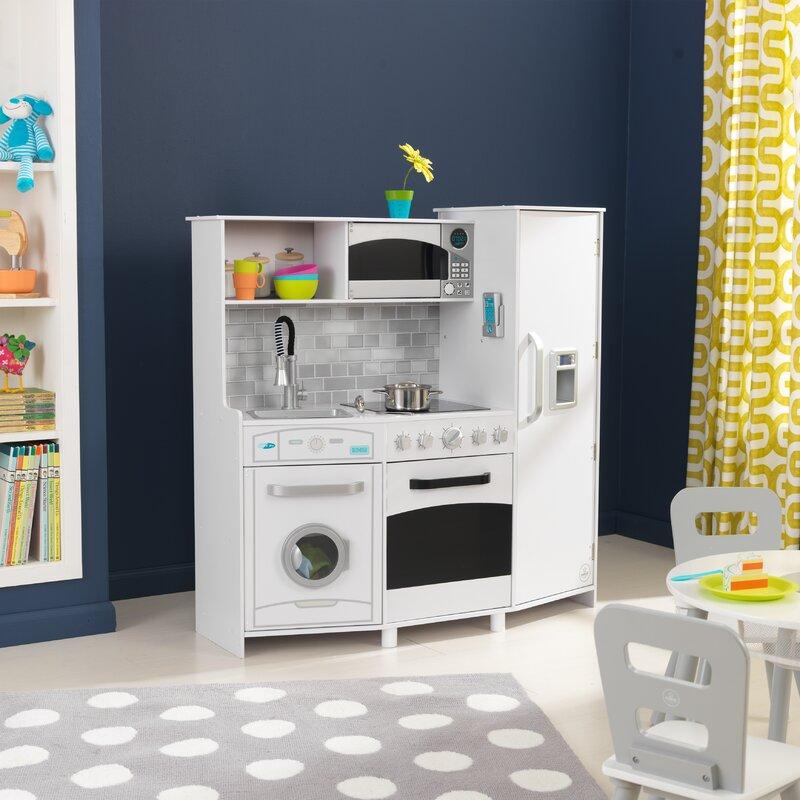 kidkraft large play kitchen set & reviews | wayfair