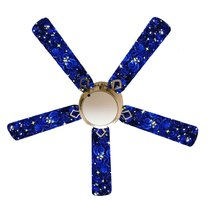 51 Inch 60 Inch Blue Blades Ceiling Fans With Lights You Ll Love In 2021 Wayfair