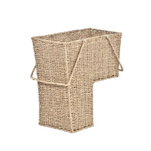 Wicker Storage Stair Basket With Handles