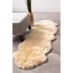 Best Reviews Moquin Genuine Fur Double Pelt Handmade Shag Sheepskin Black Area Rug By Bloomsbury Market
