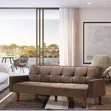Auttumn Twin Or Smaller 75 Tufted Back Convertible Sofa by Latitude Run
