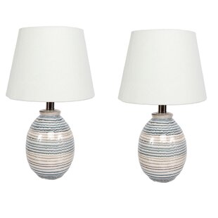 Stripe 16 Table Lamp (Set Of 2) by DEI Fresh