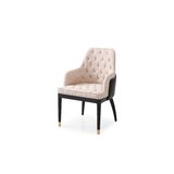Uribe Tufted Upholstered Arm Chair in Beige by Corrigan Studio®