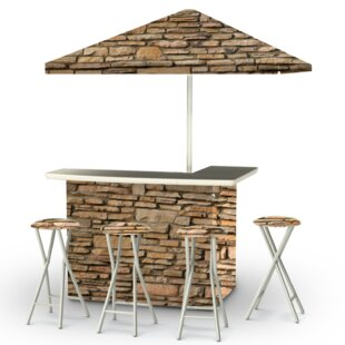Best of Times Rock Wall 8 Piece Bar Set