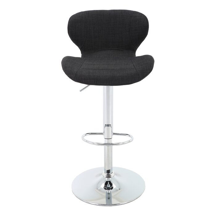 Excellent Aadhya Adjustable Height Swivel Bar Stool Gmtry Best Dining Table And Chair Ideas Images Gmtryco