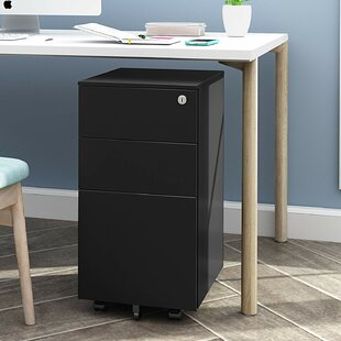 Stansel PB Mini Steel File 3-Drawer Vertical Filing Cabinet By 17 Stories