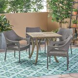 Winchell Outdoor 5 Piece Dining Set