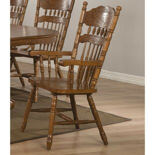 August Grove Colabrese Solid Wood Arm Chair (Set of 2)