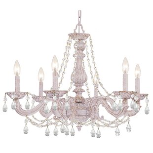 Reviews Odessa 6-Light Candle Style Chandelier By Viv + Rae