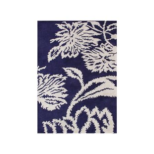 Inexpensive Woodburn Hand-Tufted Blue/White Area Rug By The Conestoga Trading Co.