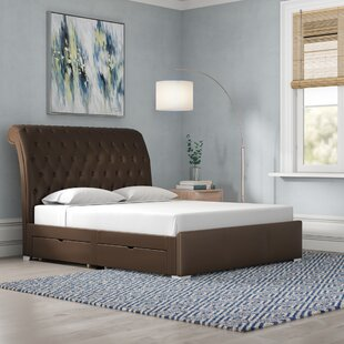 Taro Upholstered Storage Bed Frame By Wrought Studio
