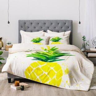 Laura Trevey Pineapple Sunshine Comforter by East Urban Home