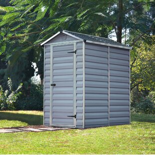 Skylight 4 Ft. W X 6 Ft. D Apex Polycarbonate Shed By Palram