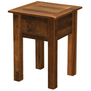 Bargain Barnwood 1 Drawer Nightstand by Fireside Lodge