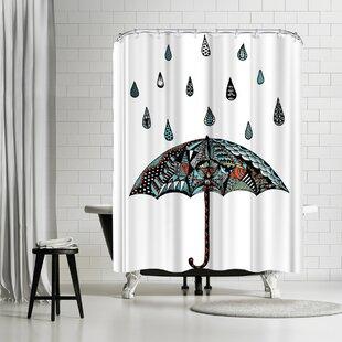 East Urban Home Patricia Pino Umbrella Shower Curtain