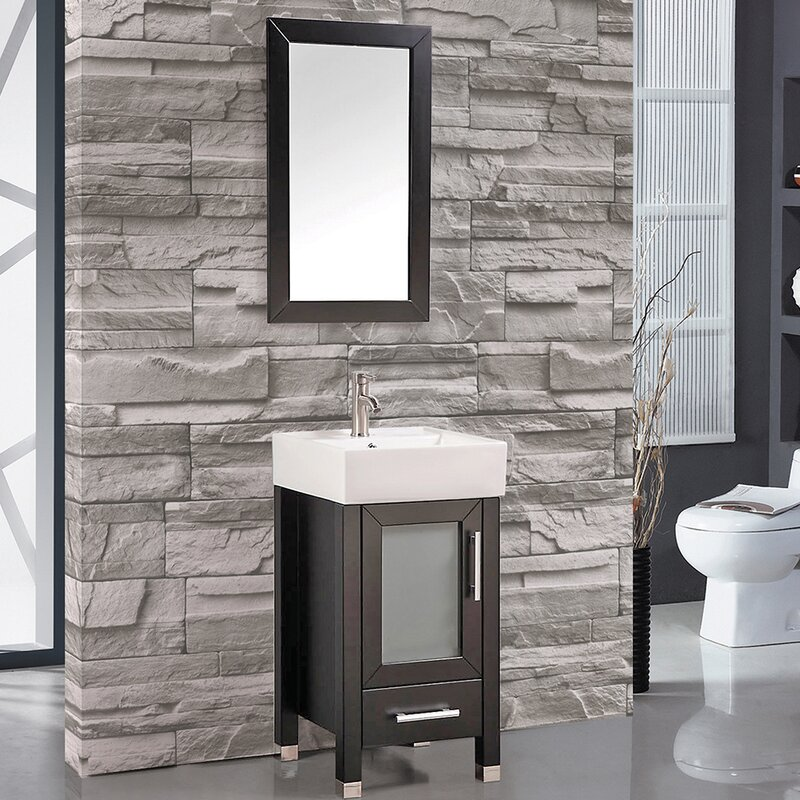 Bosarge 18 Single Sink Bathroom Vanity Set With Mirror