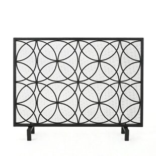 Thayer Single Panel Iron Fireplace Screen