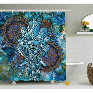 Alep Third Eye Symbol India Single Shower Curtain