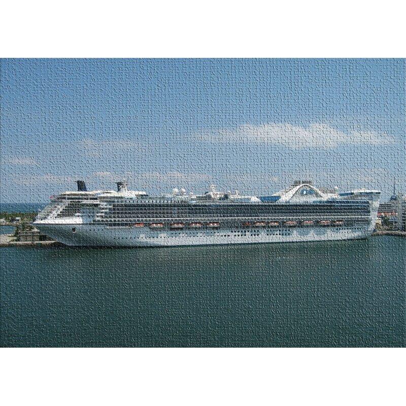 East Urban Home Cruise Ship Blue Area Rug Wayfair
