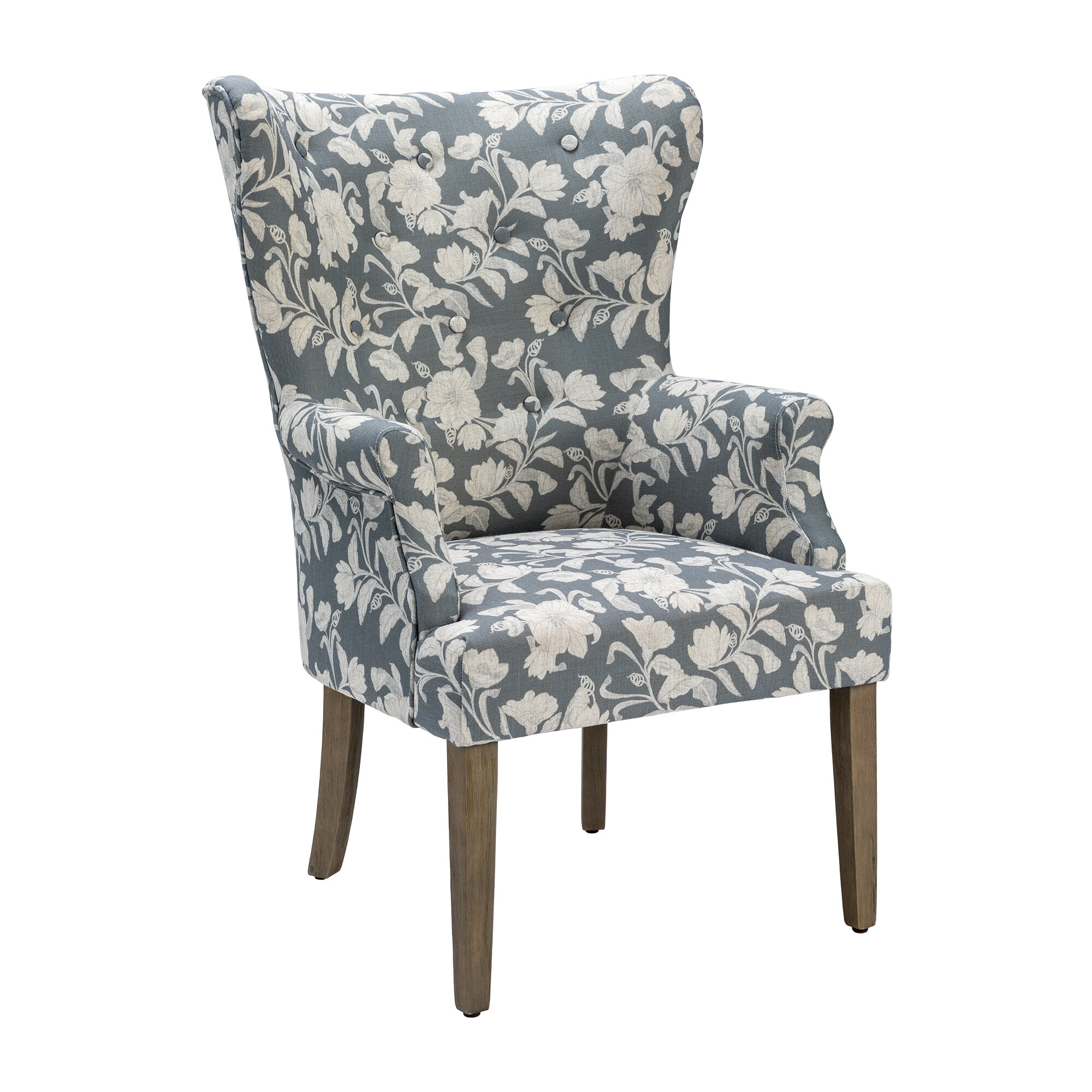 Dash Upholstered Floral Wingback Chair