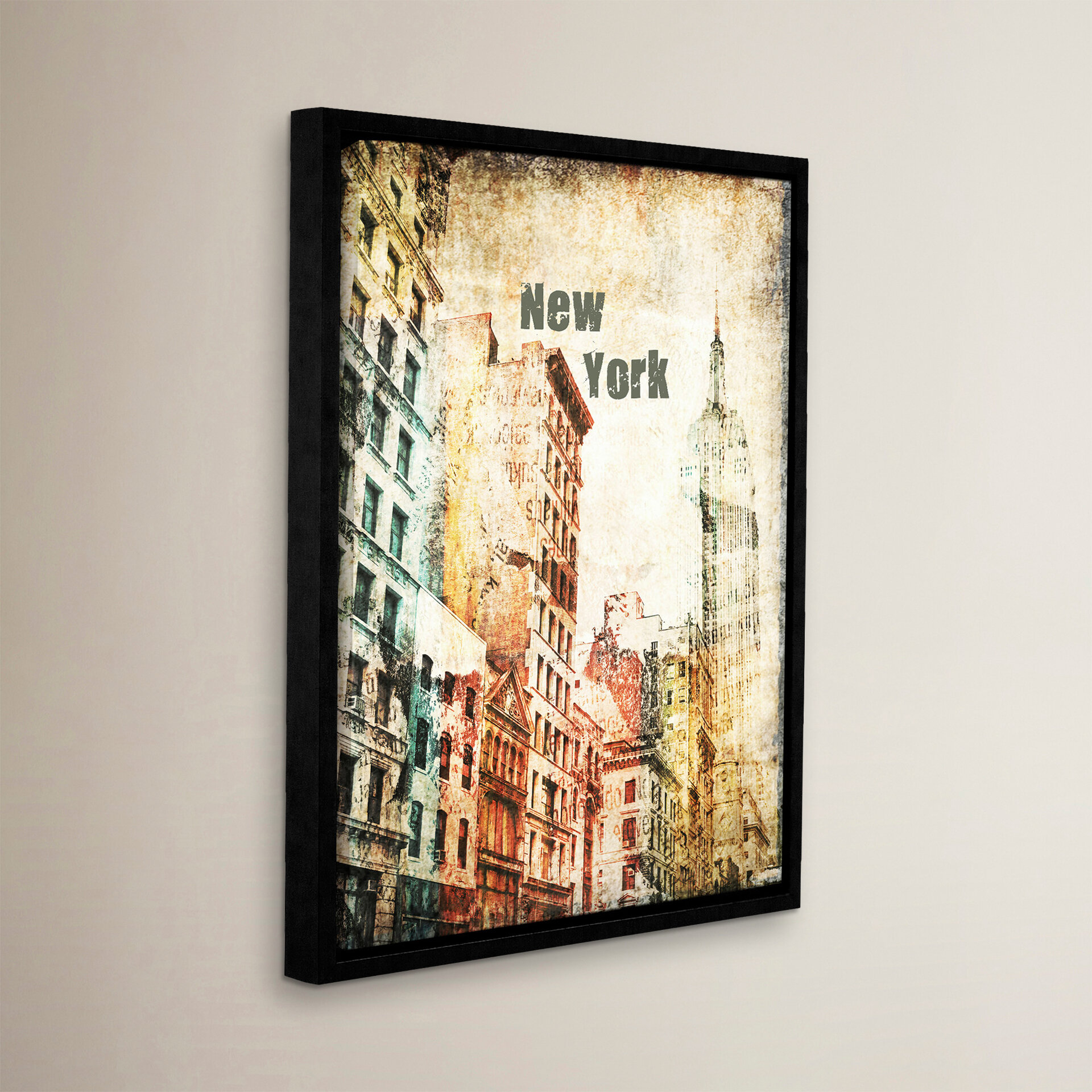 Williston Forge Empire State Building Ii Framed Graphic Art On Wrapped Canvas Wayfair