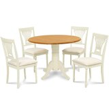 Forthill 5 Piece Drop Leaf Solid Wood Dining Set by Alcott Hill®