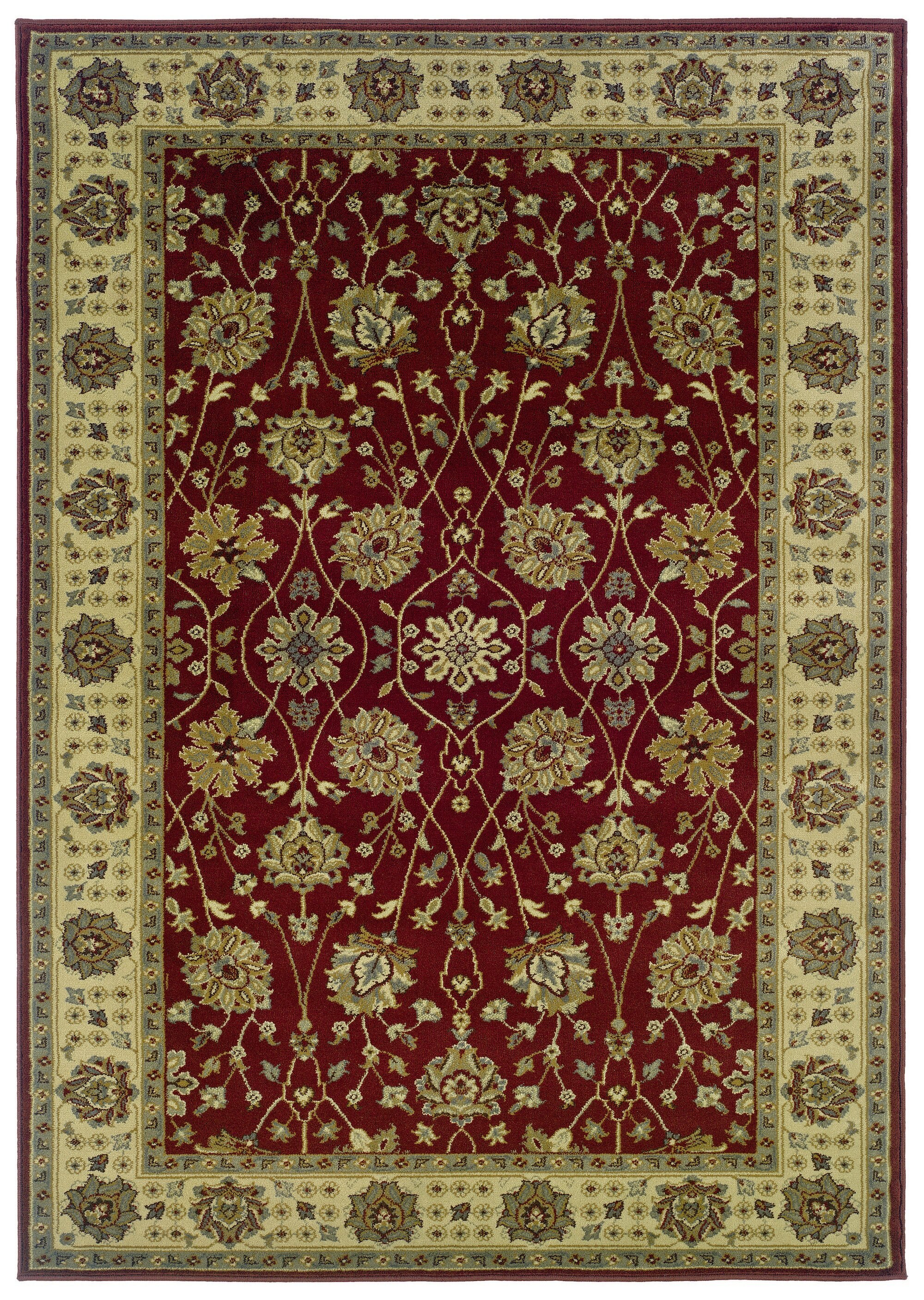 Threadbind Midland Power Loom Red Green Rug Wayfair