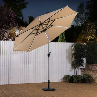Audington 3.5m Cantilever Parasol With Lights By Sol 72 Outdoor