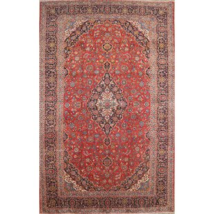 One-of-a-Kind Lockwood Kashan Vintage Persian Hand-Knotted 10'2 x 16'5 Wool Blue/Red Area Rug ByIsabelline