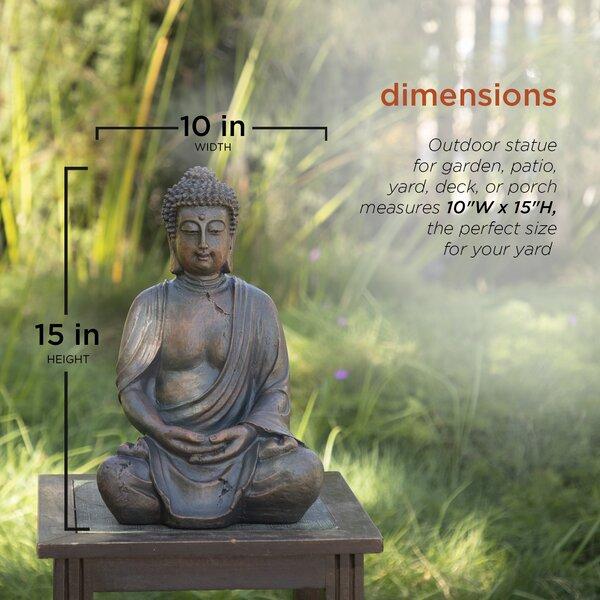 Donellan Outdoor Meditating Buddha Statue