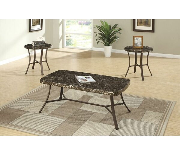sc 1 st  Wayfair & Faux Marble Coffee Table Set | Wayfair