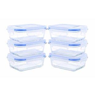 Glassworks Element Rectangular Oven Safe 12 Container Food Storage Set