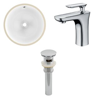 Reviews Ceramic Circular Undermount Bathroom Sink with Faucet and Overflow By Royal Purple Bath Kitchen