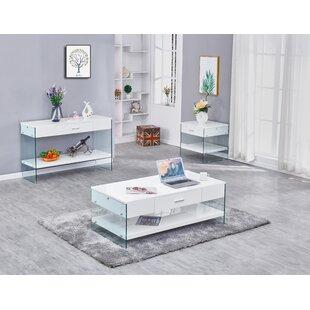 Orren Ellis Chalk 3 Piece Coffee Table Set