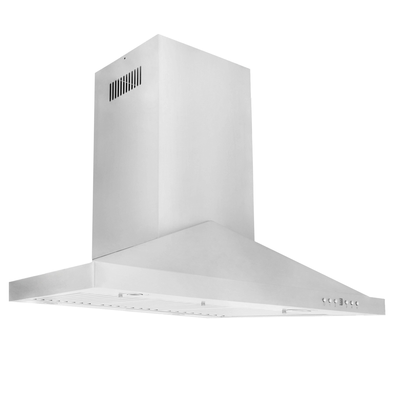 Zline Kitchen And Bath 30 400 Cfm Convertible Island Range Hood Reviews Wayfair