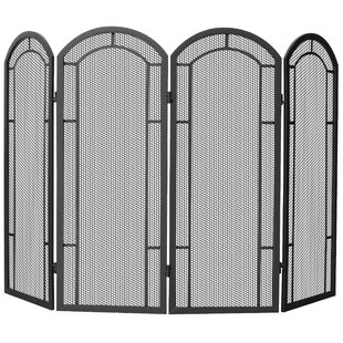 4 Panel Iron Fireplace Screen By Uniflame