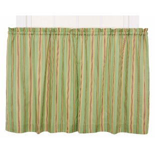 Englewood Medium Scale Stripe Tier Curtain Valance by Red Barrel Studio