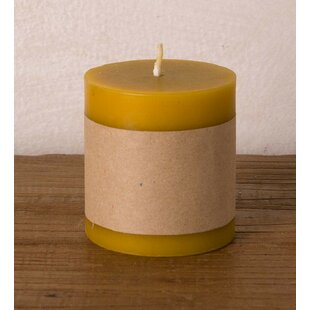 All Natural Scented Beeswax Pillar Candle