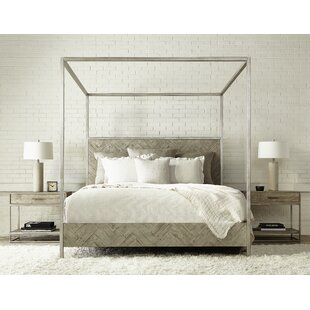 Highland Park Solid Wood Low Profile Canopy Bed