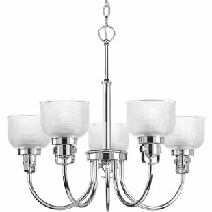 Beachcrest Home Gotha 5-Light Shaded Chandelier