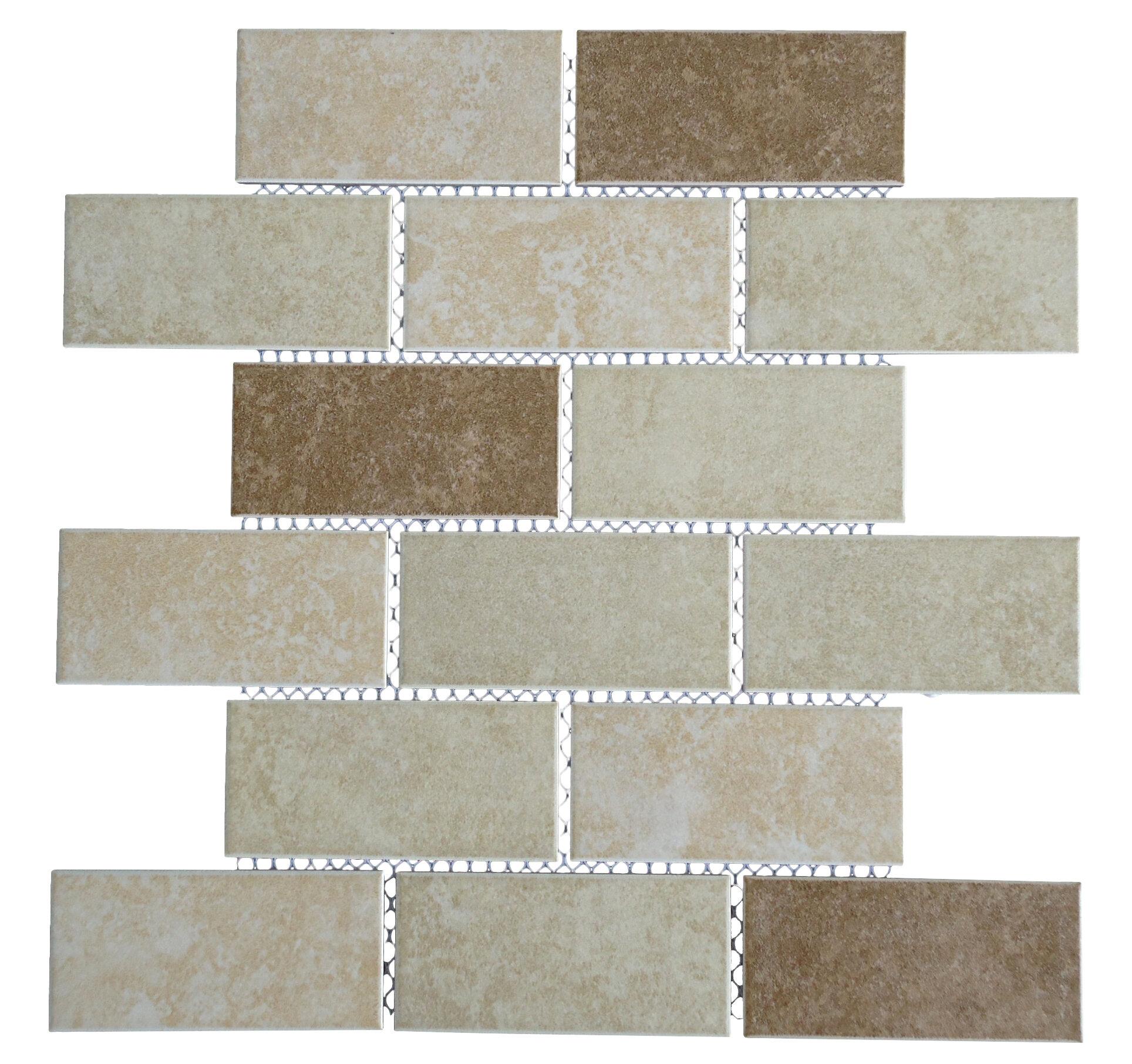 Mulia tile classique 2 x 4 porcelain subway tile in beige and mulia tile classique 2 x 4 porcelain subway tile in beige and ivory wayfair dailygadgetfo Gallery