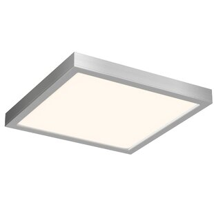 Ebern Designs Mickle Square 1-Light LED Flush Mount