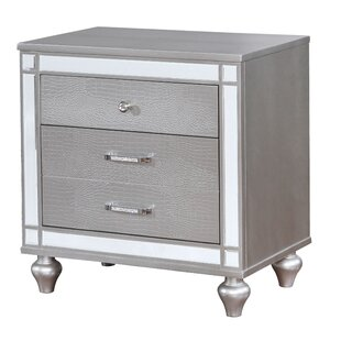 Meserve Contemporary 2 Drawers Nightstand