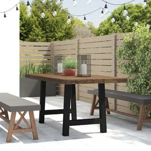 Dorcia Outdoor Concrete Dining Table