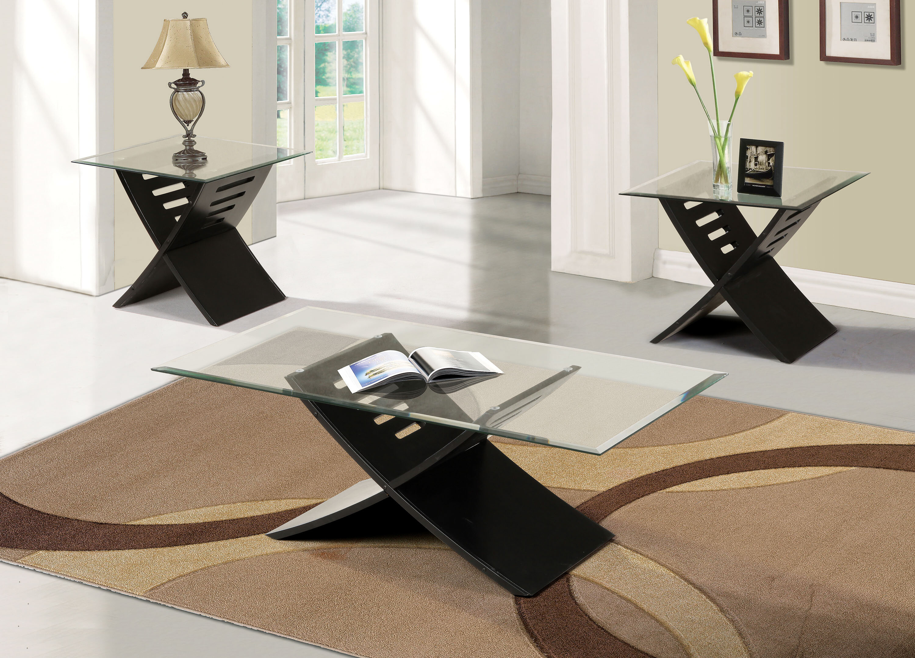 Orren Ellis Canotib 3 Piece Coffee Table Set Reviews Wayfair