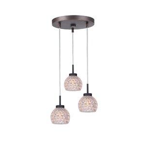 Sadowski 3-Light Bell Cluster Pendant by Wrought Studio